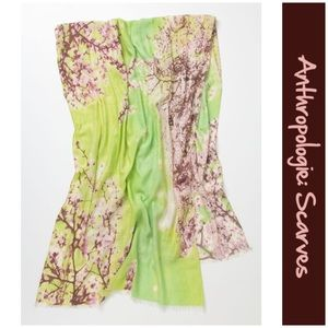 """NWTs Anthro """"Lime Hanami Scarf"""" by Rose & Rose"""